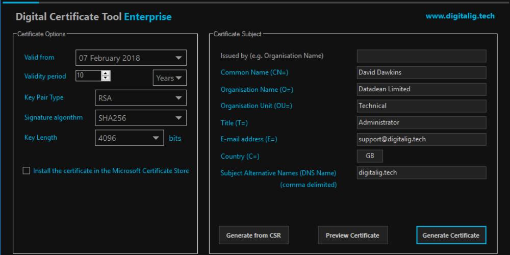 Cyberteam Security Services Pki Digital Certificate Tool
